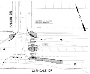 Glendale and Rankin Crosswalk Drawing