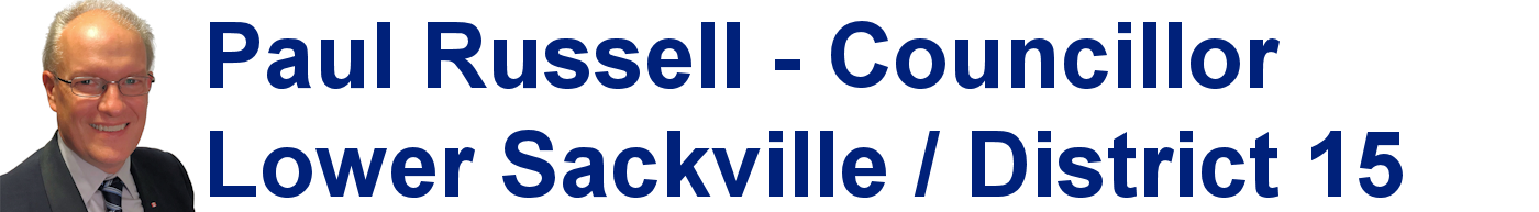 Paul Russell - Councillor for Lower Sackville / District 15